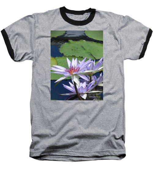 Baseball T-Shirt featuring the photograph White Lilies by Chrisann Ellis