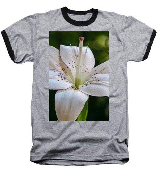 White Lily Baseball T-Shirt