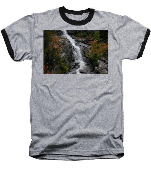 White Mountain Water Fall  Baseball T-Shirt by Denyse Duhaime