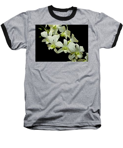 White Orchids Baseball T-Shirt by Swank Photography