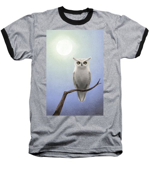 White Owl Baseball T-Shirt