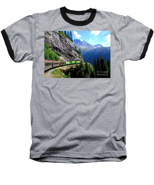 White Pass And Yukon Route Railway In Canada Baseball T-Shirt by Catherine Sherman