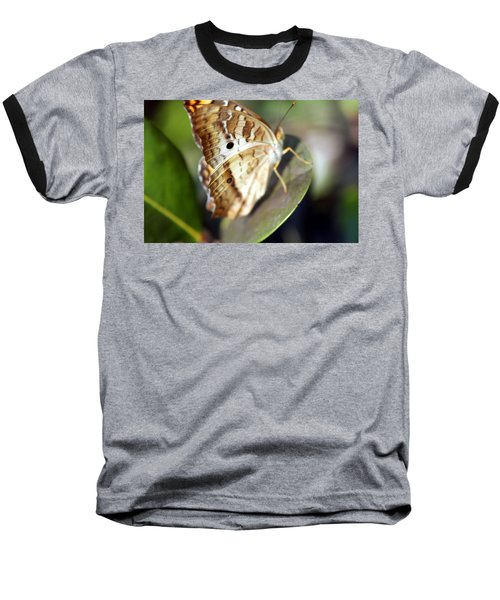 Baseball T-Shirt featuring the photograph White Peacock Butterfly by Greg Allore