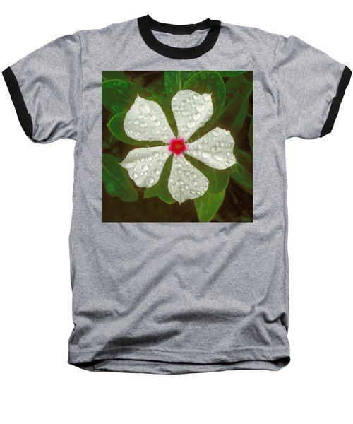 Baseball T-Shirt featuring the photograph White Periwinkle by Mark Greenberg