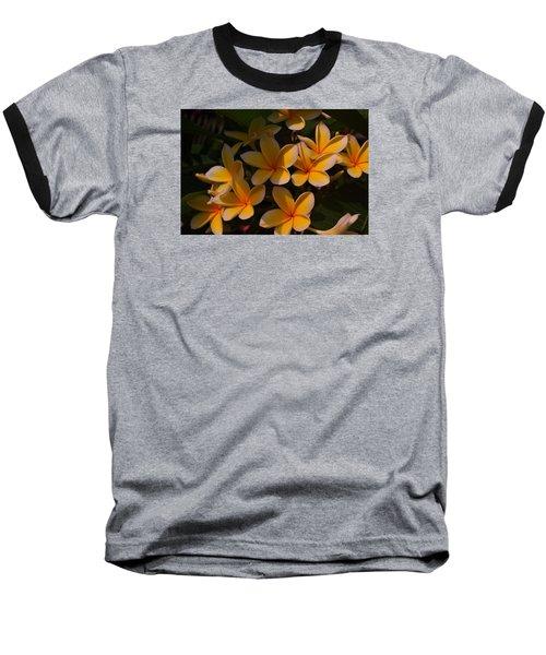 White Plumeria Baseball T-Shirt