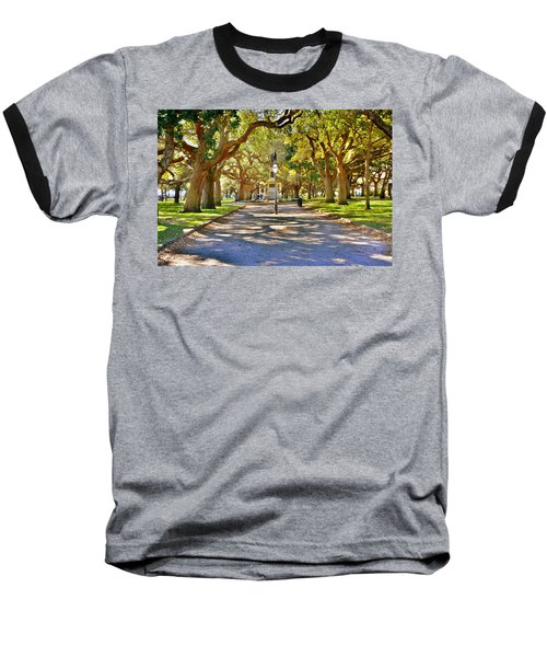 White Point Gardens At Battery Park Charleston Sc Hdr Baseball T-Shirt