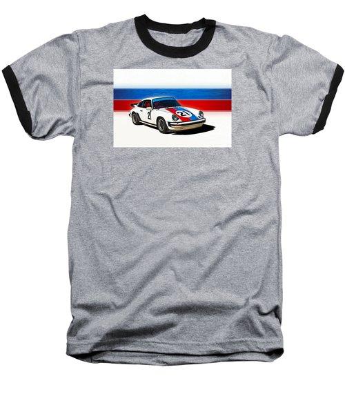 White Porsche 911 Baseball T-Shirt