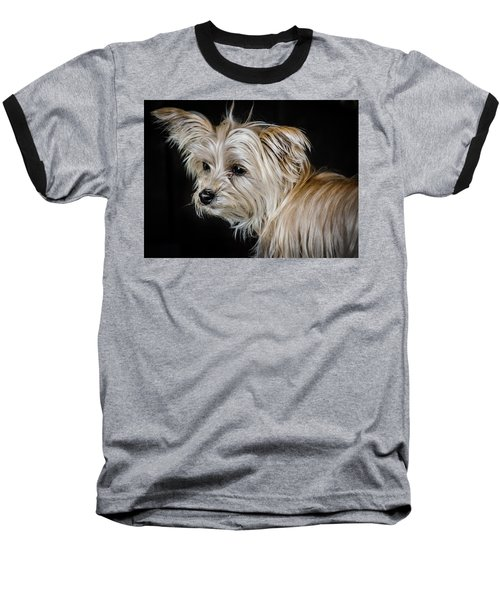 White Puppy Baseball T-Shirt