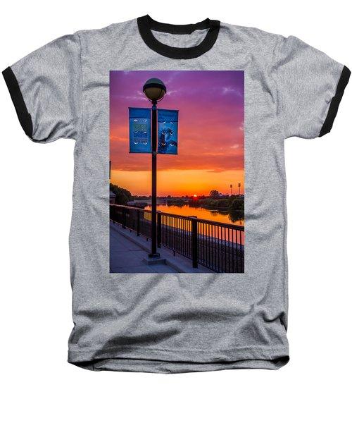 White River Sunset Baseball T-Shirt