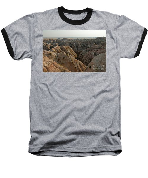 White River Valley Overlook Badlands National Park Baseball T-Shirt