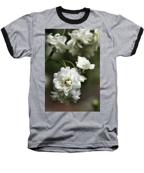 Baseball T-Shirt featuring the photograph White Roses by Joy Watson