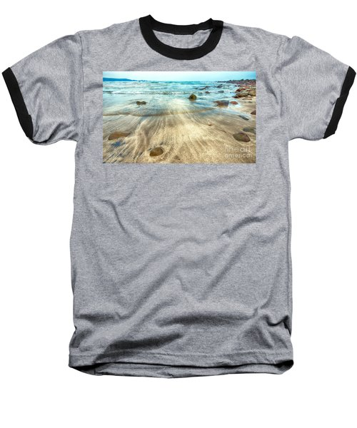 White Sand Beach Baseball T-Shirt