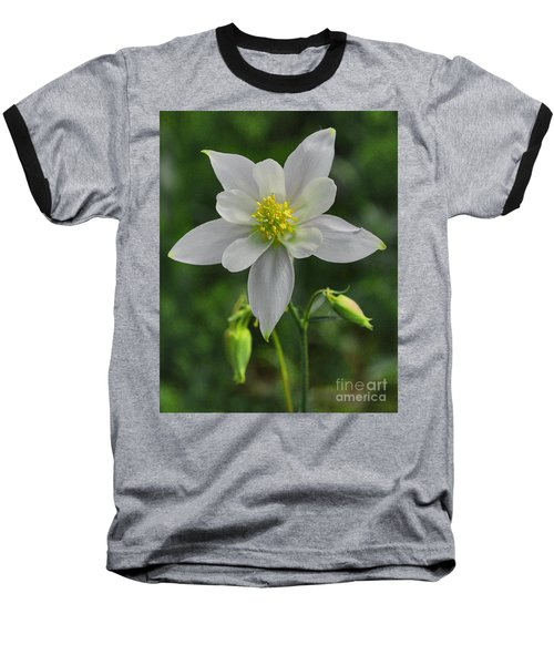 Baseball T-Shirt featuring the digital art White Star Flower by Mae Wertz