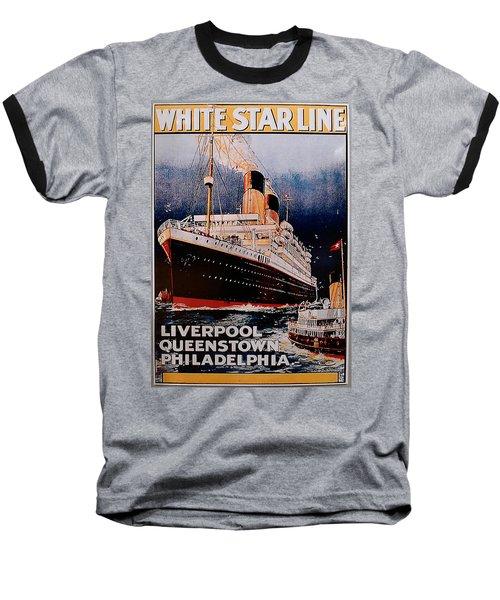 White Star Line Poster 1 Baseball T-Shirt