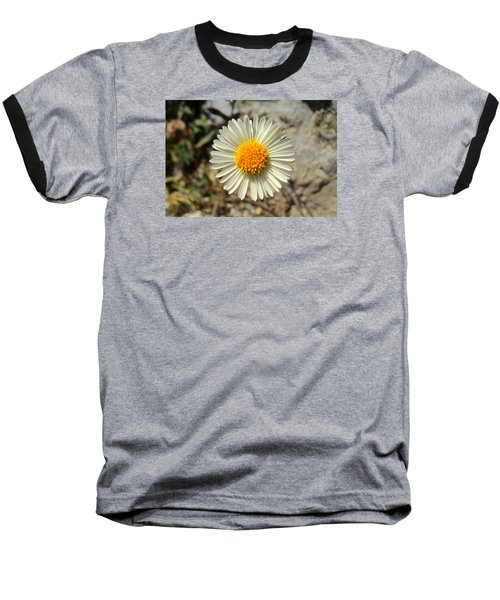 White Wild Flower Baseball T-Shirt