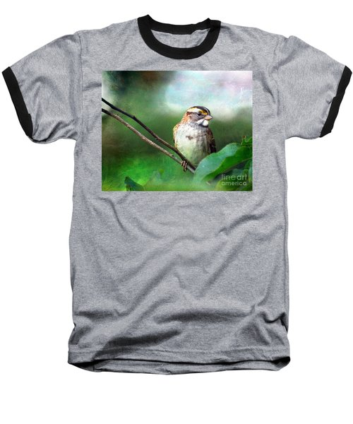 White-throated Sparrow Baseball T-Shirt
