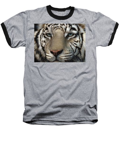 White Tiger - Up Close And Personal Baseball T-Shirt