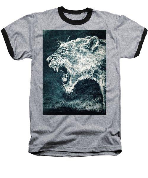 Leon Portrait Baseball T-Shirt