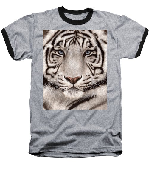 White Tiger Painting Baseball T-Shirt