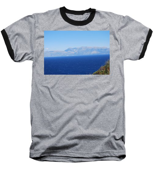 Baseball T-Shirt featuring the photograph White Trail by George Katechis