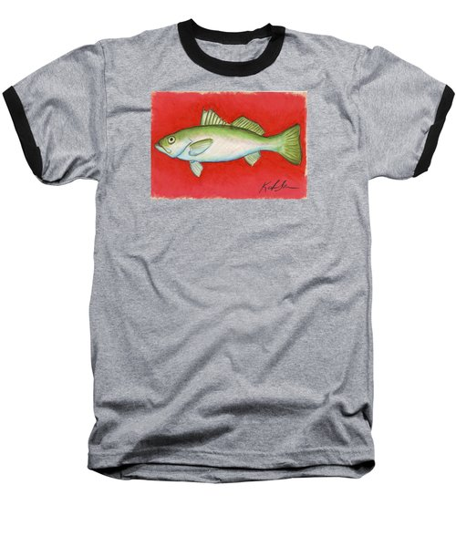 White Trout Baseball T-Shirt