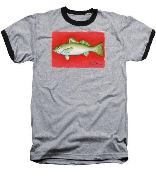 White Trout Baseball T-Shirt