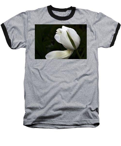 White Tulip Baseball T-Shirt