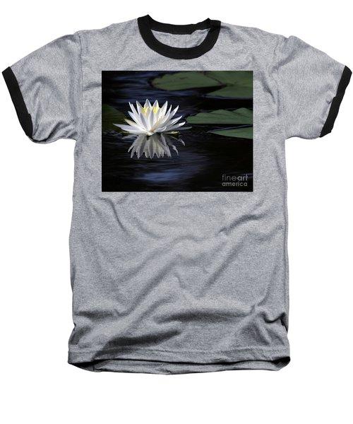 White Water Lily Left Baseball T-Shirt