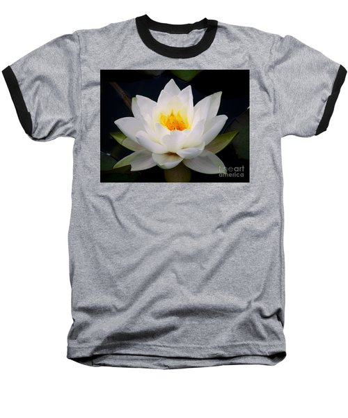 White Water Lily Baseball T-Shirt