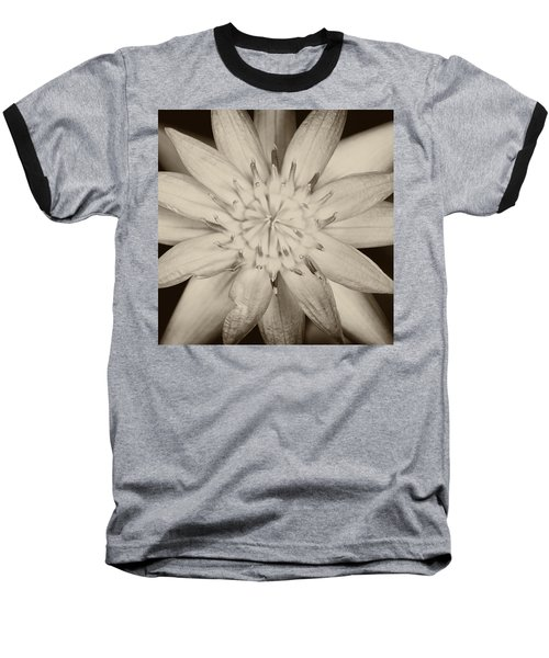 Lotus Baseball T-Shirt by Ulrich Schade