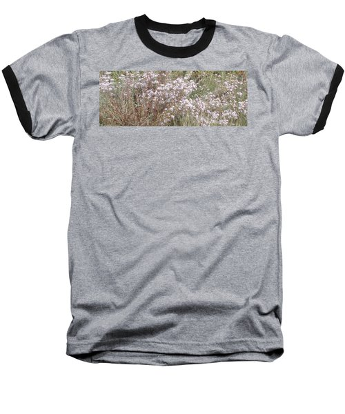 Baseball T-Shirt featuring the photograph White Wild Flowers by Fortunate Findings Shirley Dickerson