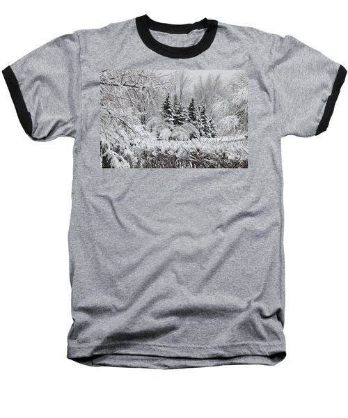 White Winter Day Baseball T-Shirt