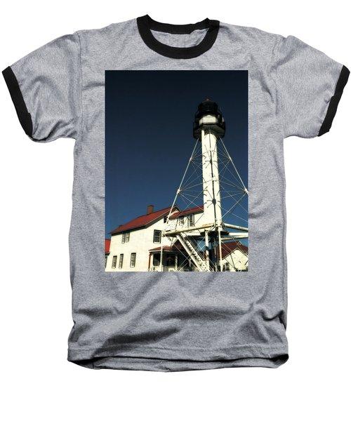 Whitefish Point Light Station Baseball T-Shirt