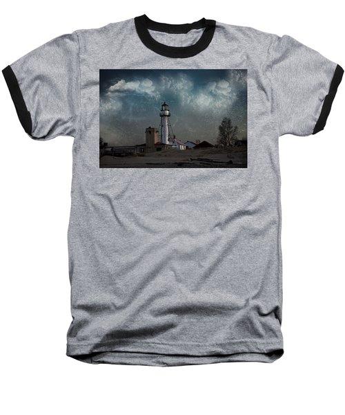 Whitefish Point Lighthouse Lake Superior Baseball T-Shirt