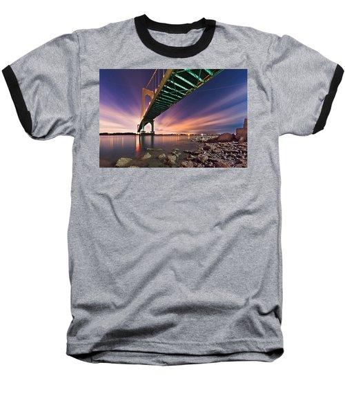 Whitestone Bridge Baseball T-Shirt by Mihai Andritoiu