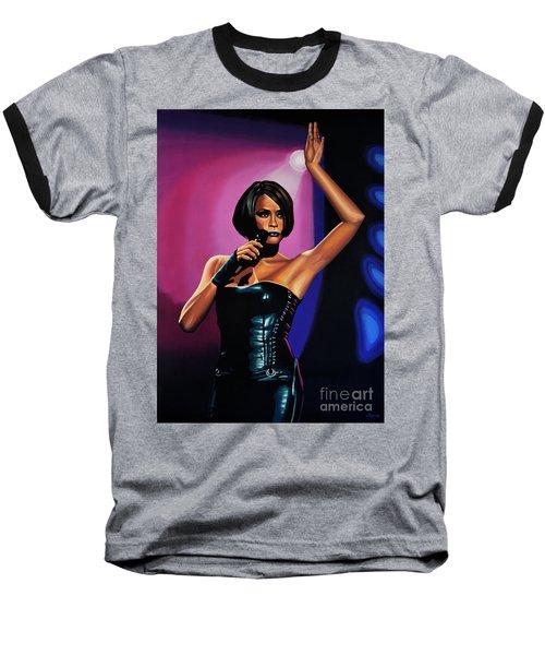 Whitney Houston On Stage Baseball T-Shirt