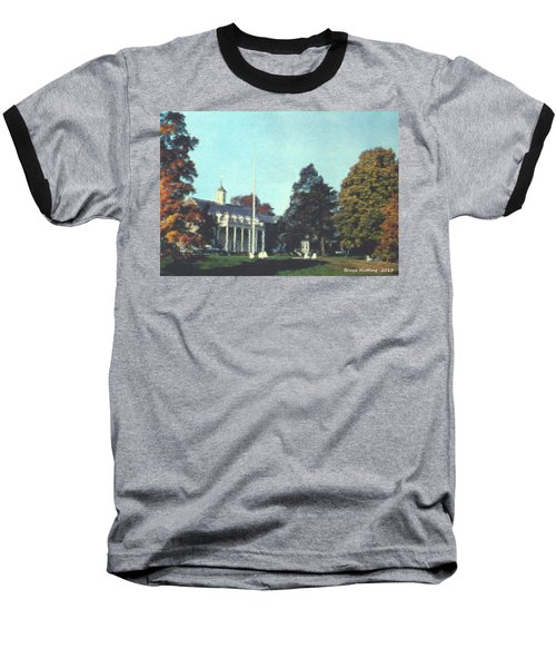 Whittle Hall Baseball T-Shirt by Bruce Nutting