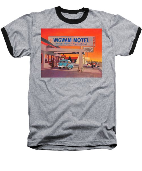 Baseball T-Shirt featuring the painting Wigwam Motel by Art James West