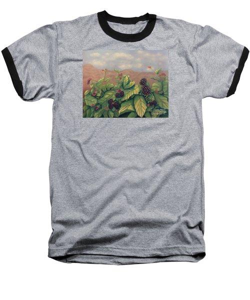 Wild Blackberries Baseball T-Shirt