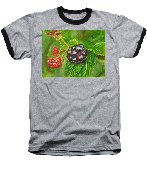 Wild Blackberries Baseball T-Shirt