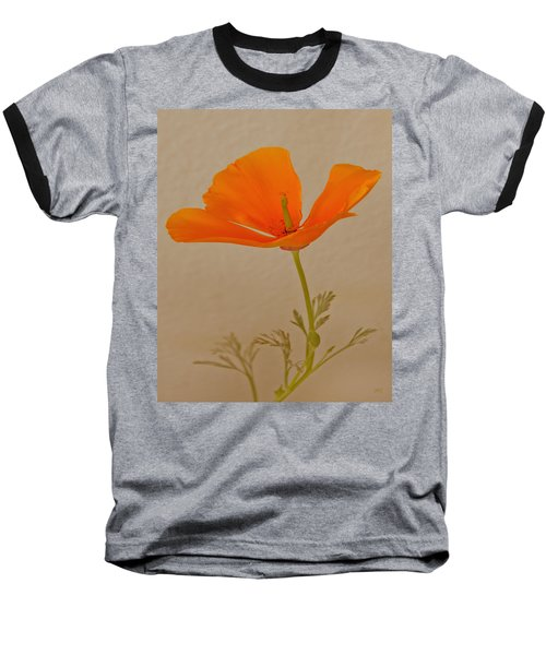 Wild California Poppy No 1 Baseball T-Shirt