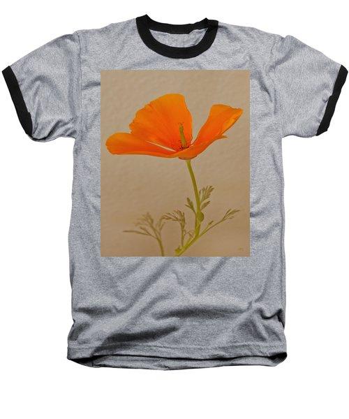 Wild California Poppy No 1 Baseball T-Shirt