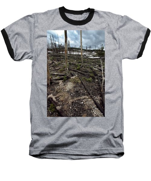Baseball T-Shirt featuring the photograph Wild Fire Aftermath by Amanda Stadther