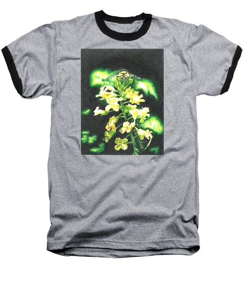 Baseball T-Shirt featuring the drawing Wild Flower by Troy Levesque