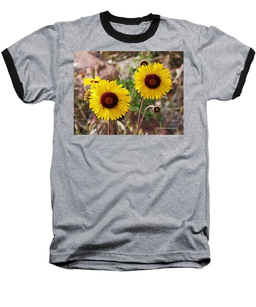 Baseball T-Shirt featuring the photograph Wild Flowers Above The Rim by Tom Janca