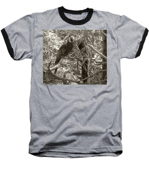 Wild Hawaiian Parrot Sepia Baseball T-Shirt