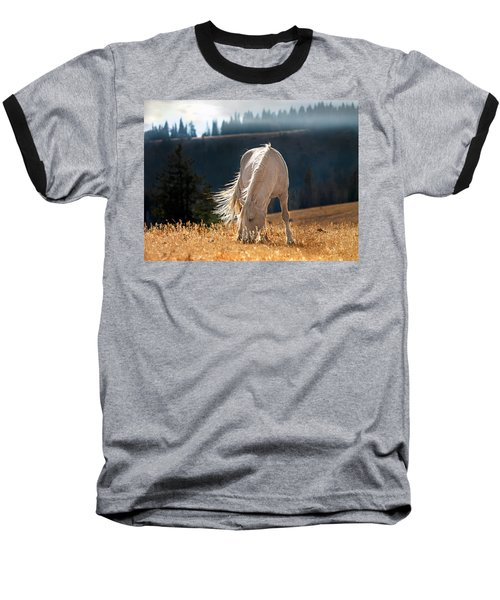 Wild Horse Cloud Baseball T-Shirt