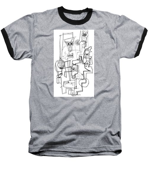 Baseball T-Shirt featuring the drawing Wild Horse Day  by Mary Armstrong