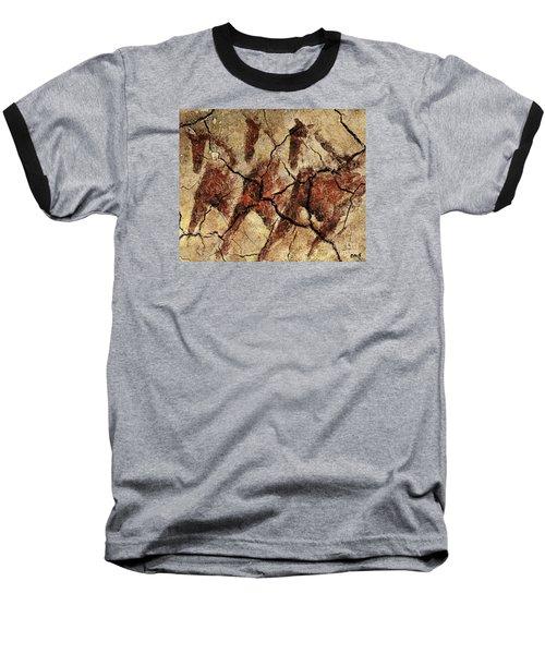 Wild Horses - Cave Art Baseball T-Shirt