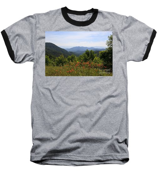 Wild Lilies With A Mountain View Baseball T-Shirt